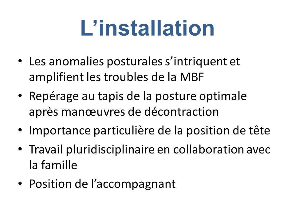 L'installation Les anomalies posturales s'intriquent et amplifient les troubles de la MBF.