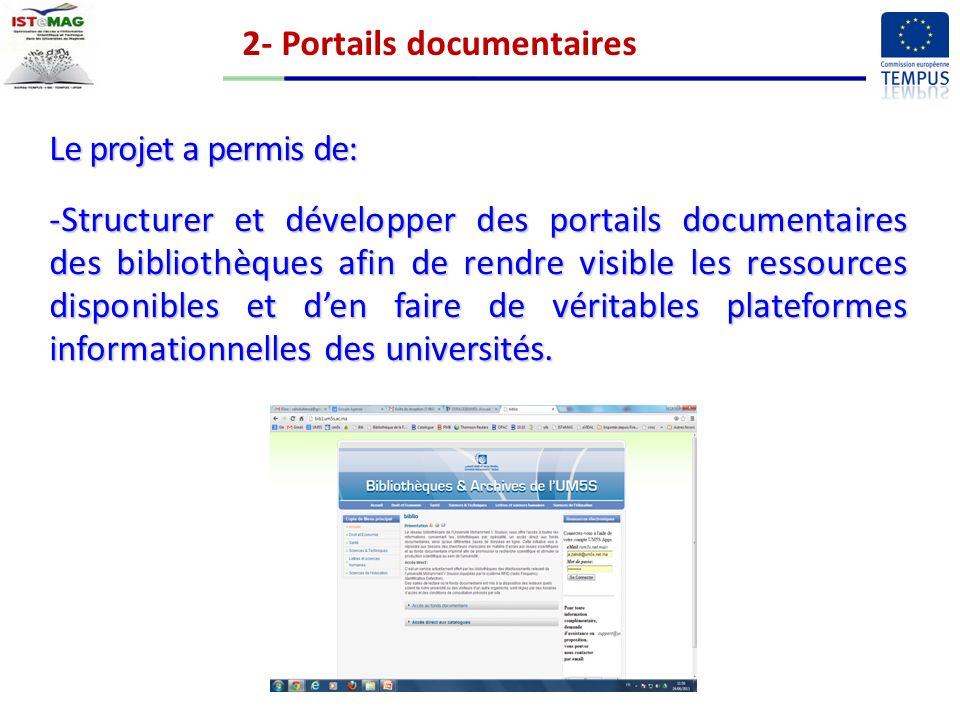 2- Portails documentaires