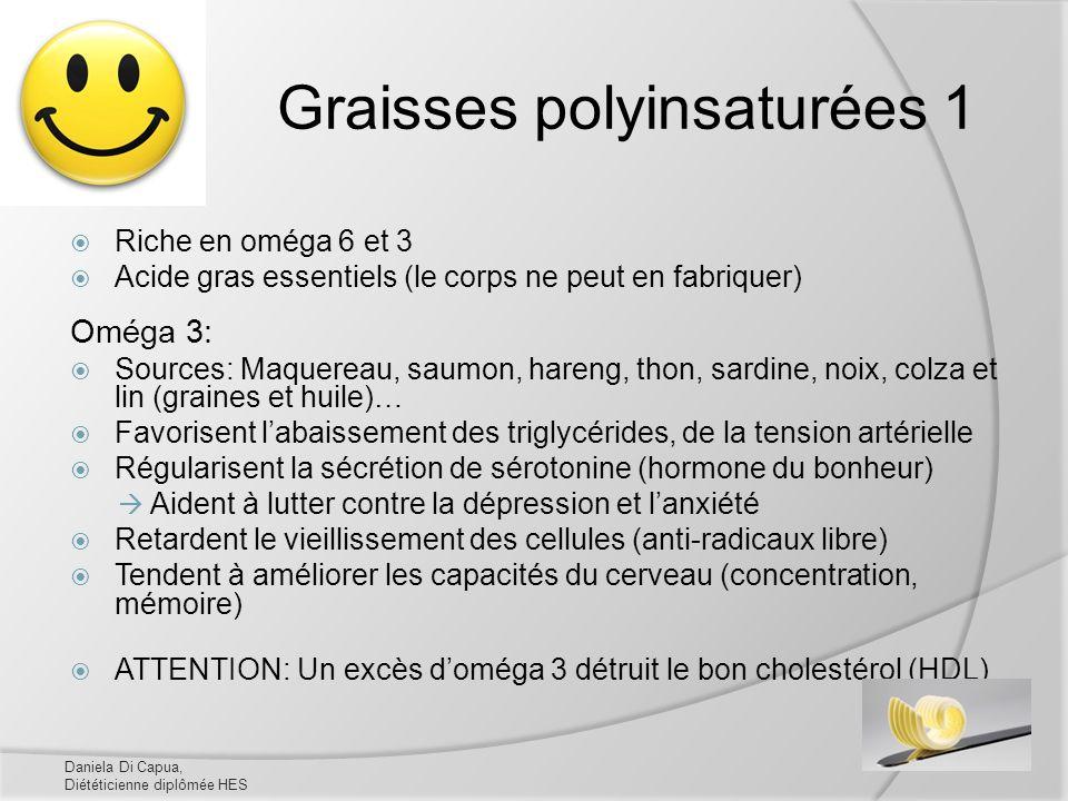 Graisses polyinsaturées 1