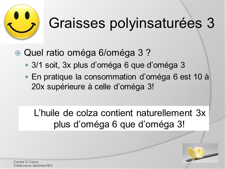 Graisses polyinsaturées 3