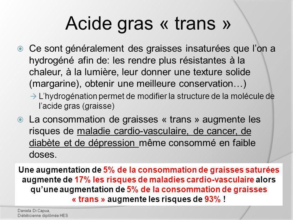 Acide gras « trans »