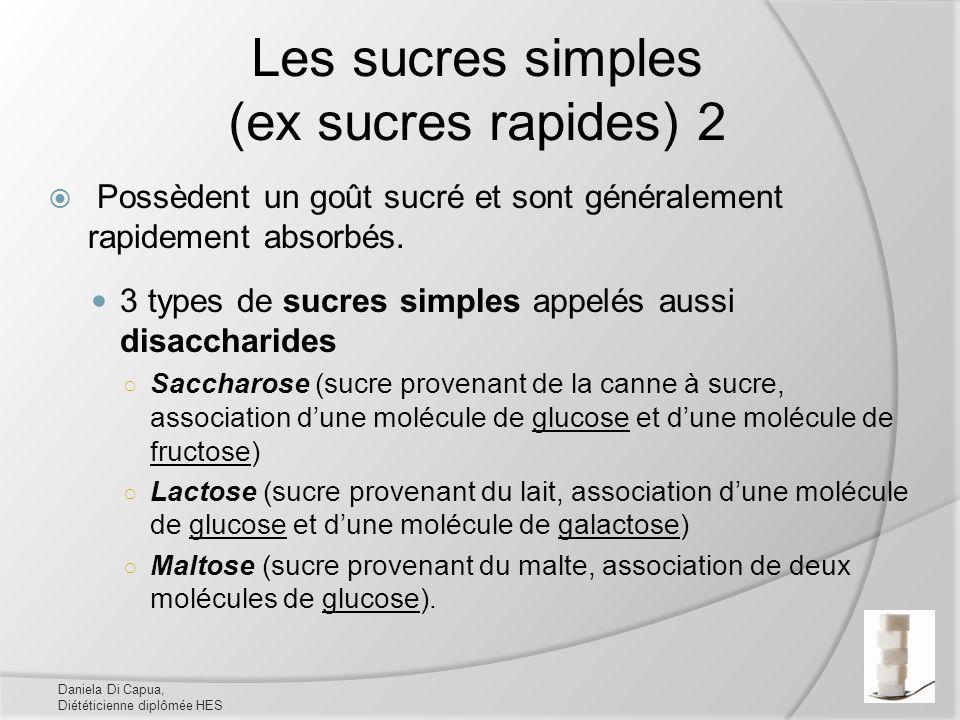 Les sucres simples (ex sucres rapides) 2