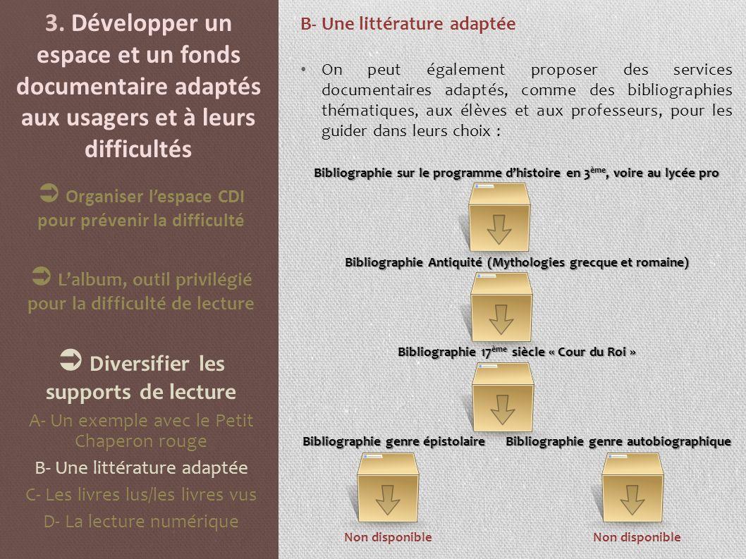  Diversifier les supports de lecture