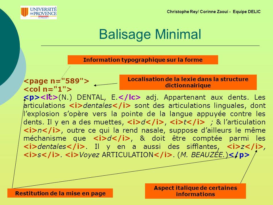 Balisage Minimal <page n= 589 > <col n= 1 >