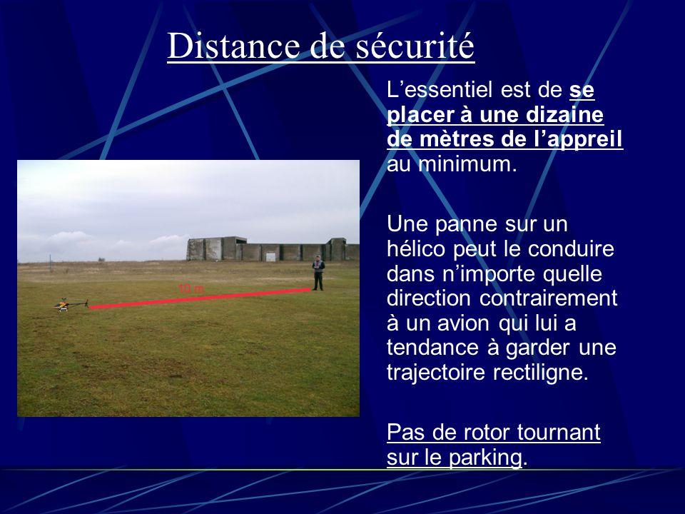 Distance de sécurité L'essentiel est de se placer à une dizaine de mètres de l'appreil au minimum.