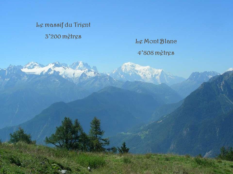Le massif du Trient 3'200 mètres Le Mont Blanc 4'808 mètres