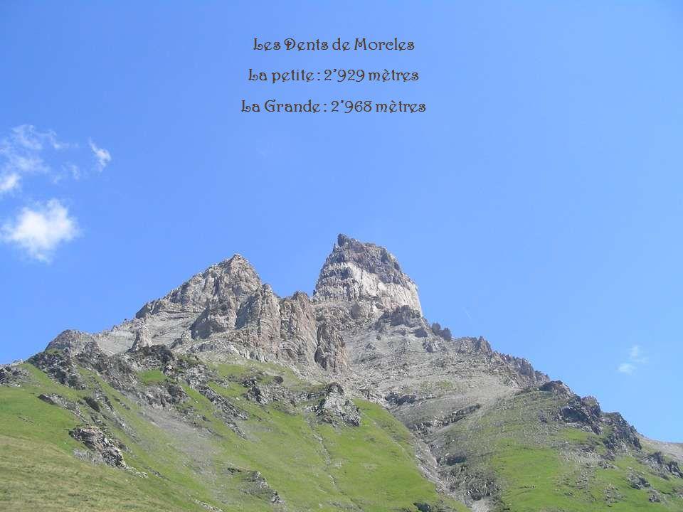 Les Dents de Morcles La petite : 2'929 mètres La Grande : 2'968 mètres
