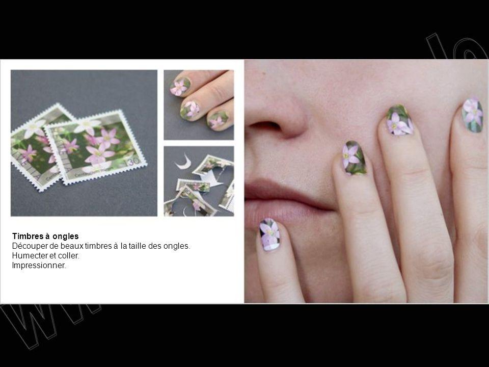 Timbres à ongles Découper de beaux timbres à la taille des ongles