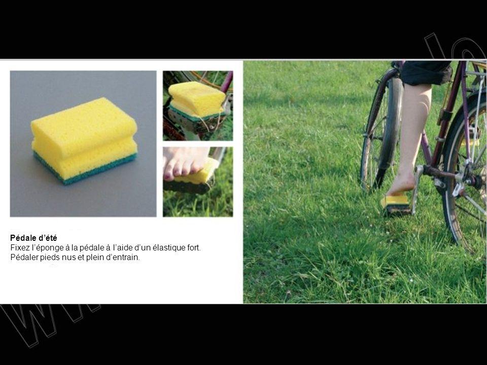 Pédale d'été Fixez l'éponge à la pédale à l'aide d'un élastique fort