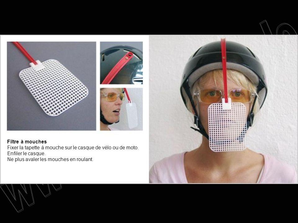 Filtre à mouches Fixer la tapette à mouche sur le casque de vélo ou de moto.