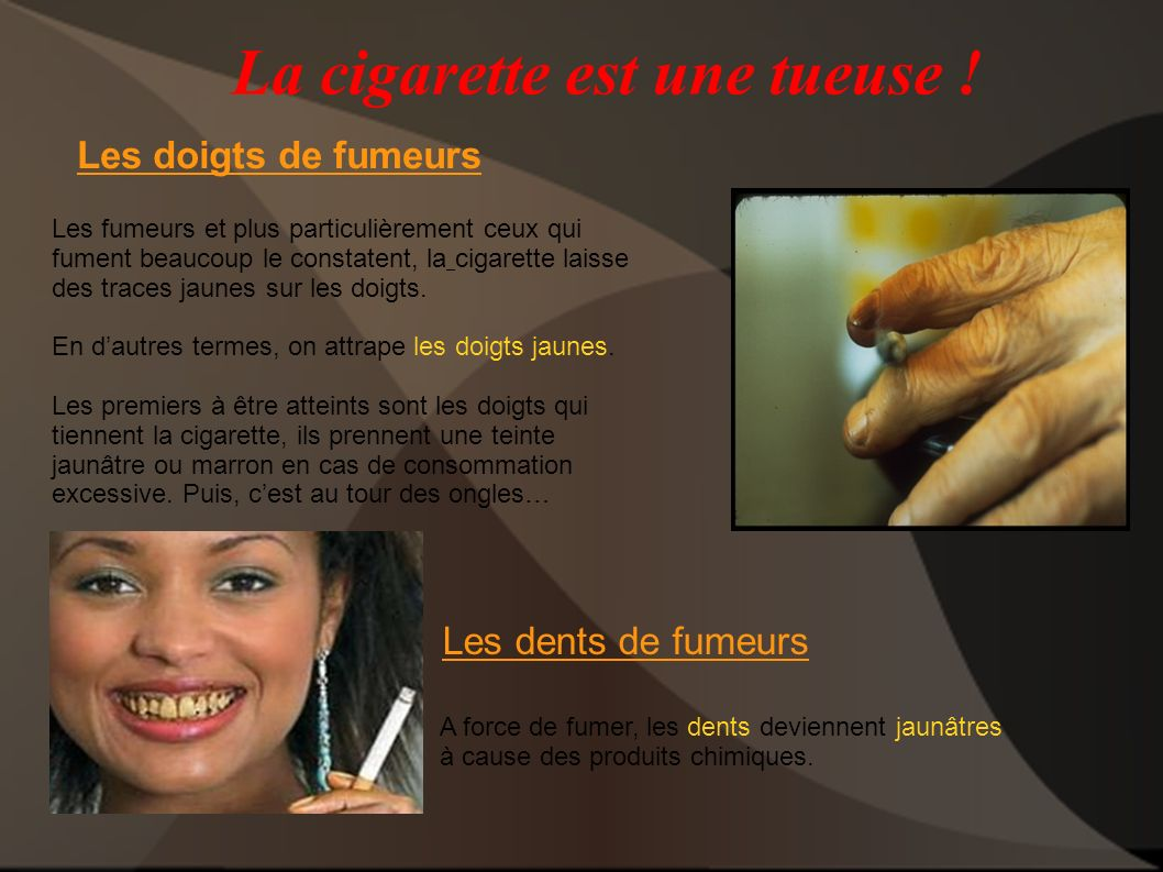 La cigarette est une tueuse !