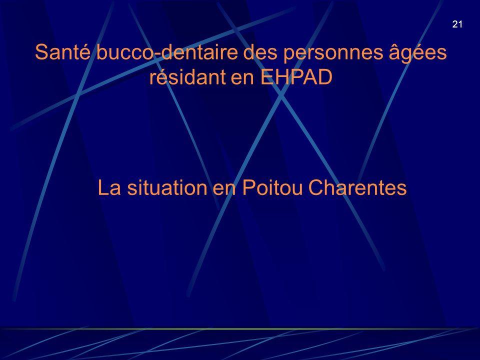 Santé bucco-dentaire des personnes âgées résidant en EHPAD