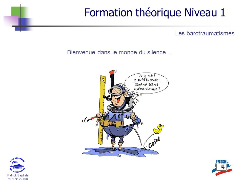 Formation théorique Niveau 1