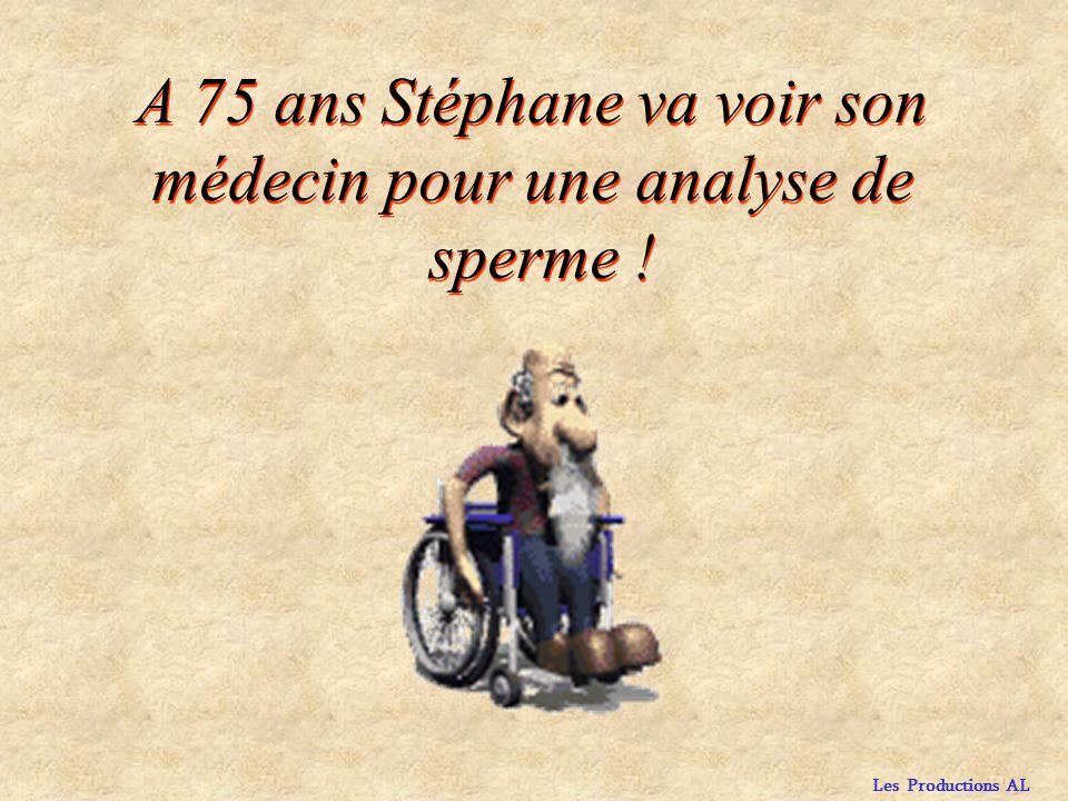A 75 ans Stéphane va voir son médecin pour une analyse de sperme !