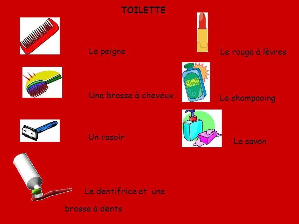Le dentifrice et une brosse à dents