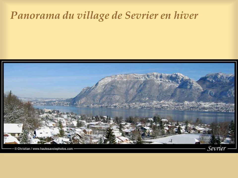 Panorama du village de Sevrier en hiver