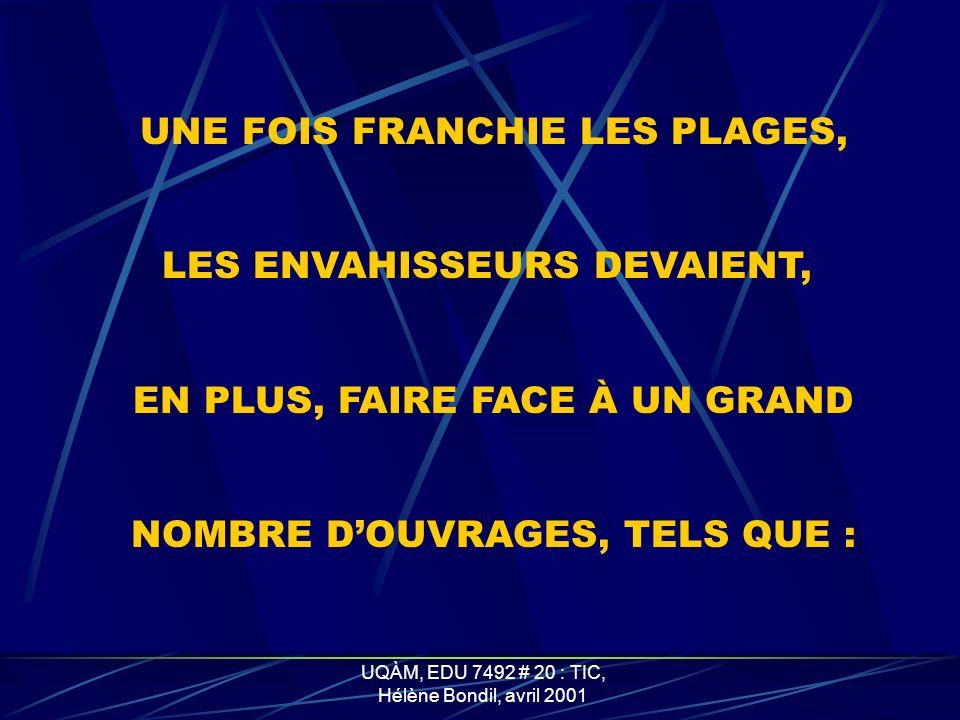 UNE FOIS FRANCHIE LES PLAGES,