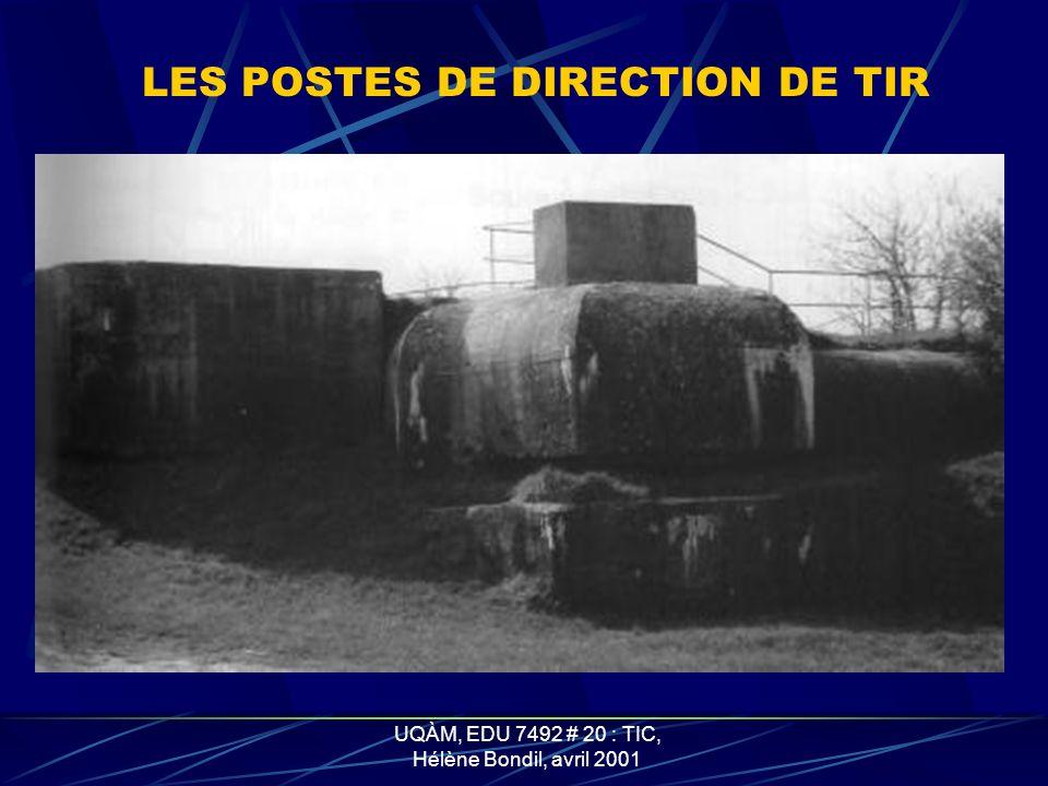 UQÀM, EDU 7492 # 20 : TIC, Hélène Bondil, avril 2001