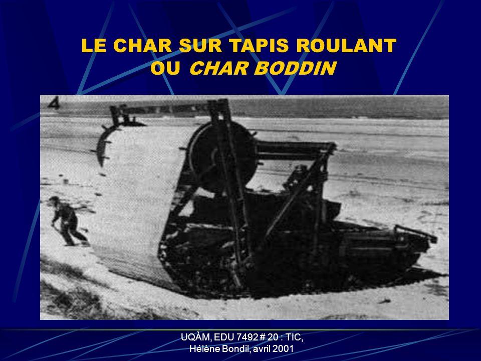 LE CHAR SUR TAPIS ROULANT