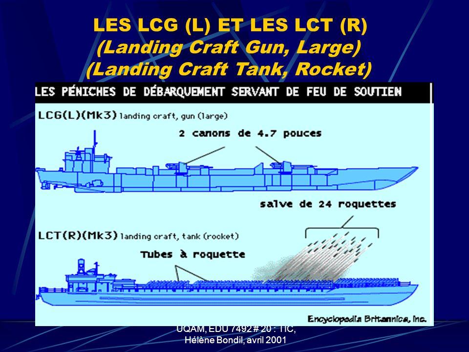 LES LCG (L) ET LES LCT (R) (Landing Craft Gun, Large)