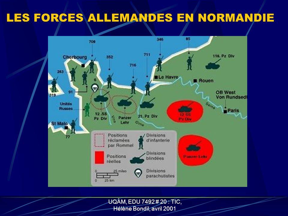 LES FORCES ALLEMANDES EN NORMANDIE