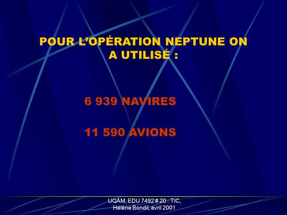 POUR L'OPÉRATION NEPTUNE ON