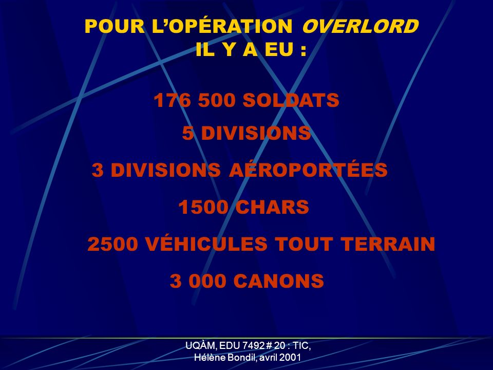 POUR L'OPÉRATION OVERLORD
