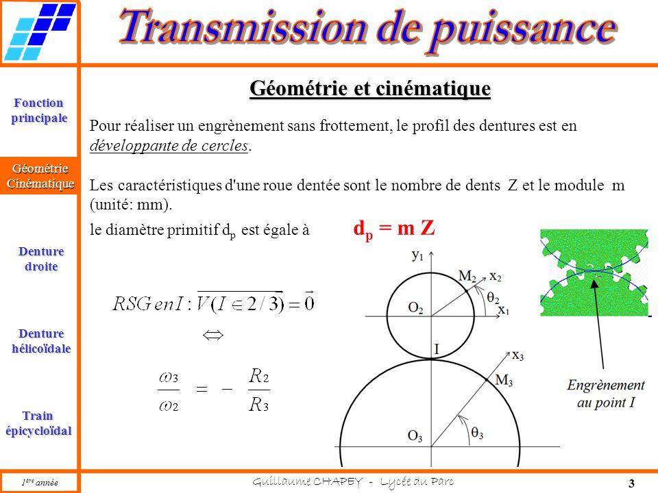 Géométrie et cinématique