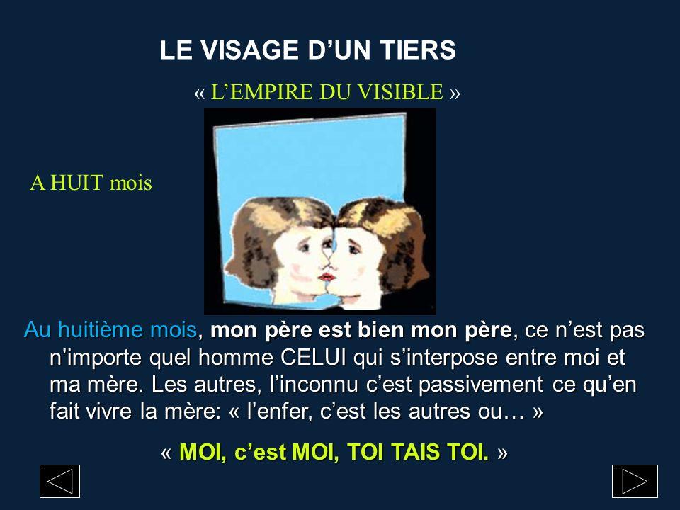 LE VISAGE D'UN TIERS « L'EMPIRE DU VISIBLE » A HUIT mois