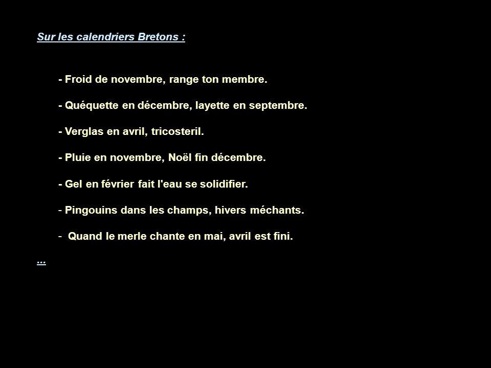 Sur les calendriers Bretons :