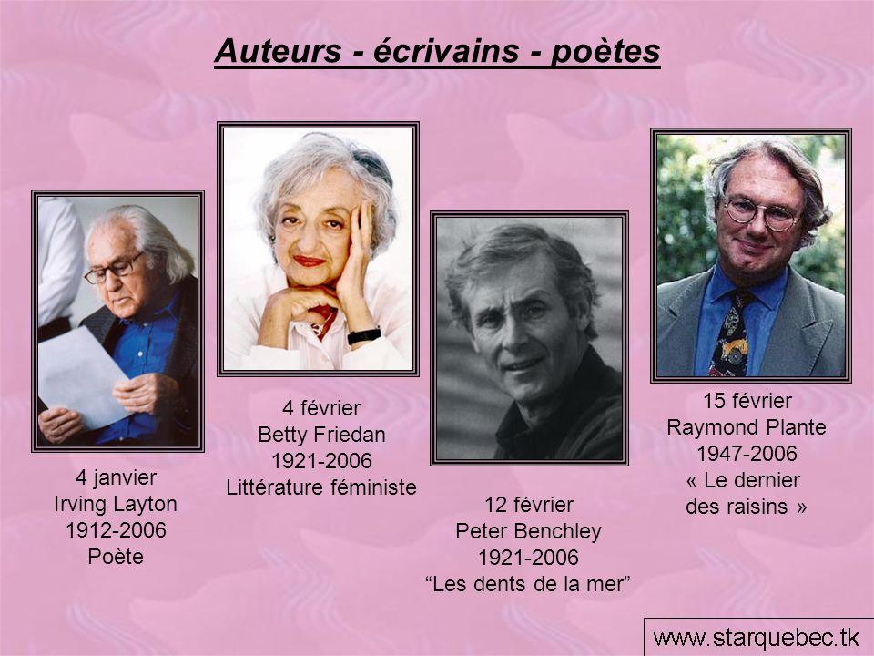 Auteurs - écrivains - poètes