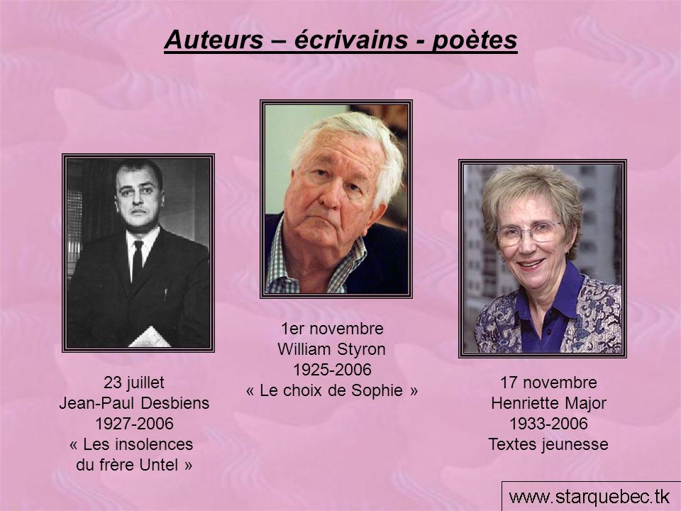 Auteurs – écrivains - poètes