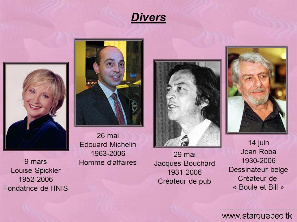 Divers 26 mai Edouard Michelin 14 juin 1963-2006 Jean Roba