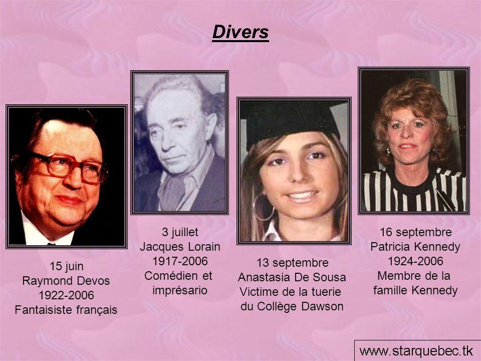 Divers 3 juillet Jacques Lorain 1917-2006 Comédien et imprésario