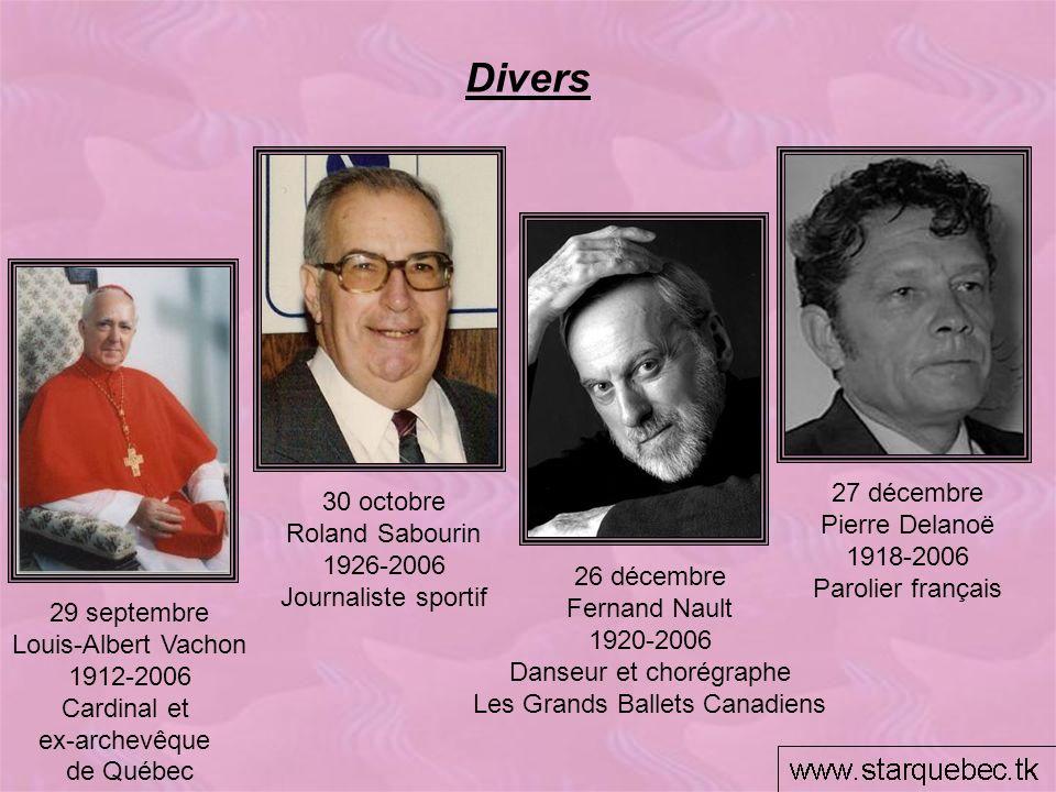 Divers 27 décembre 30 octobre Pierre Delanoë Roland Sabourin 1918-2006