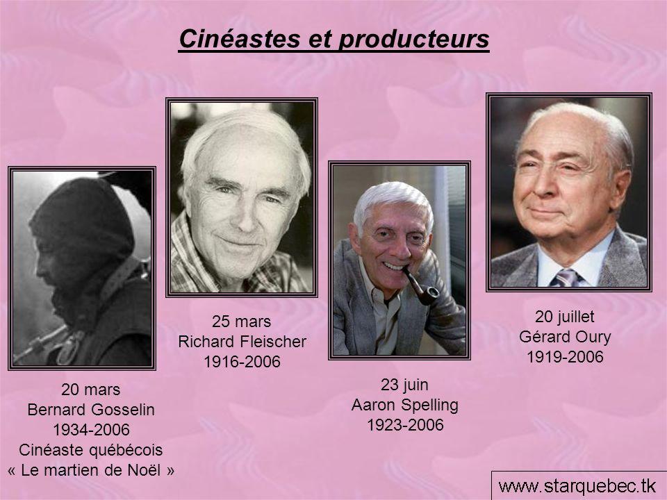 Cinéastes et producteurs