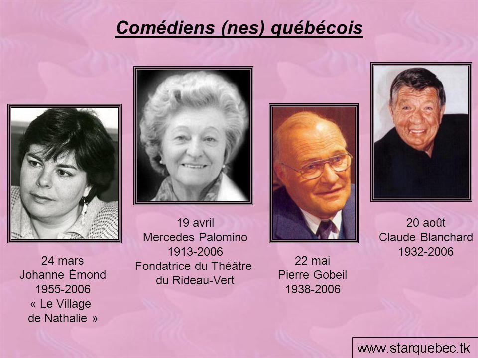 Comédiens (nes) québécois