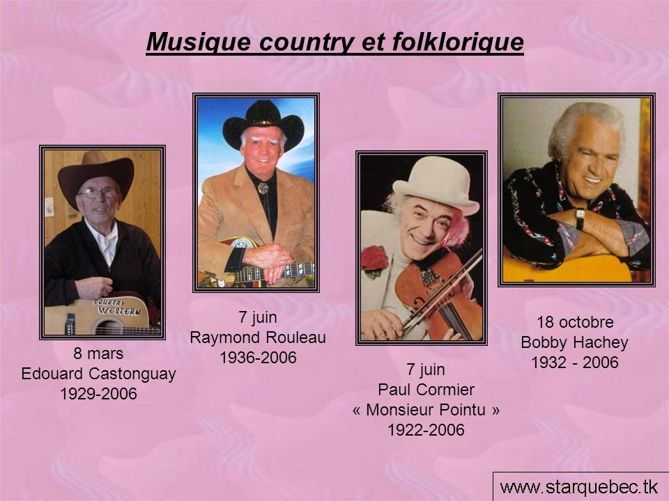 Musique country et folklorique