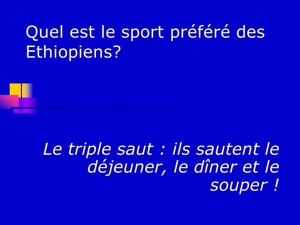 Quel est le sport préféré des Ethiopiens