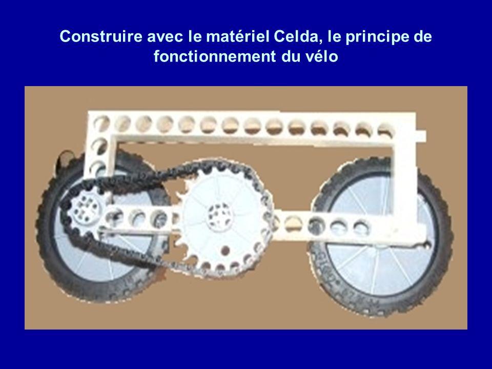 Construire avec le matériel Celda, le principe de fonctionnement du vélo