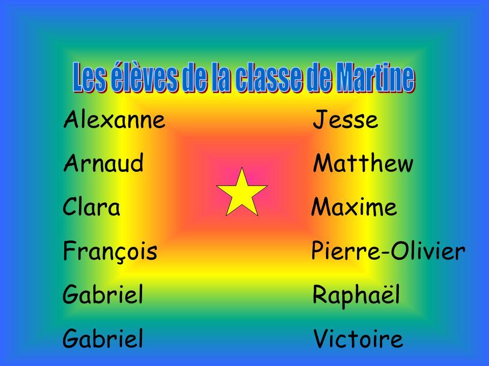 Les élèves de la classe de Martine