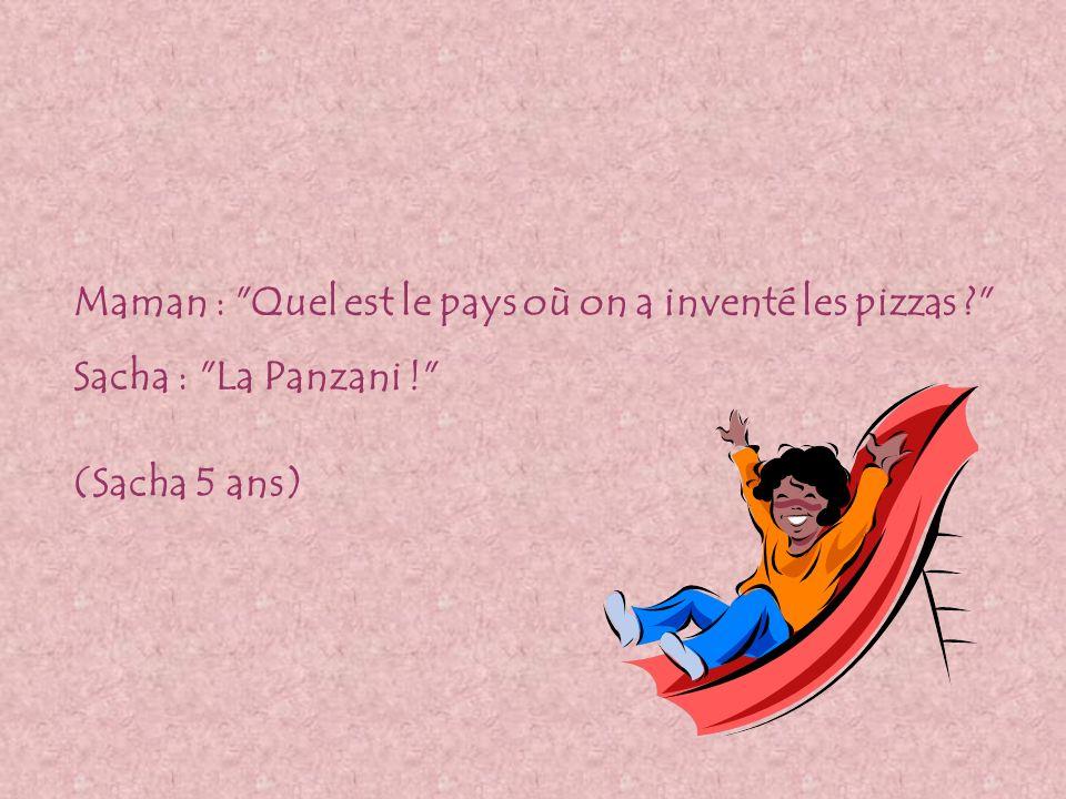 Maman : Quel est le pays où on a inventé les pizzas