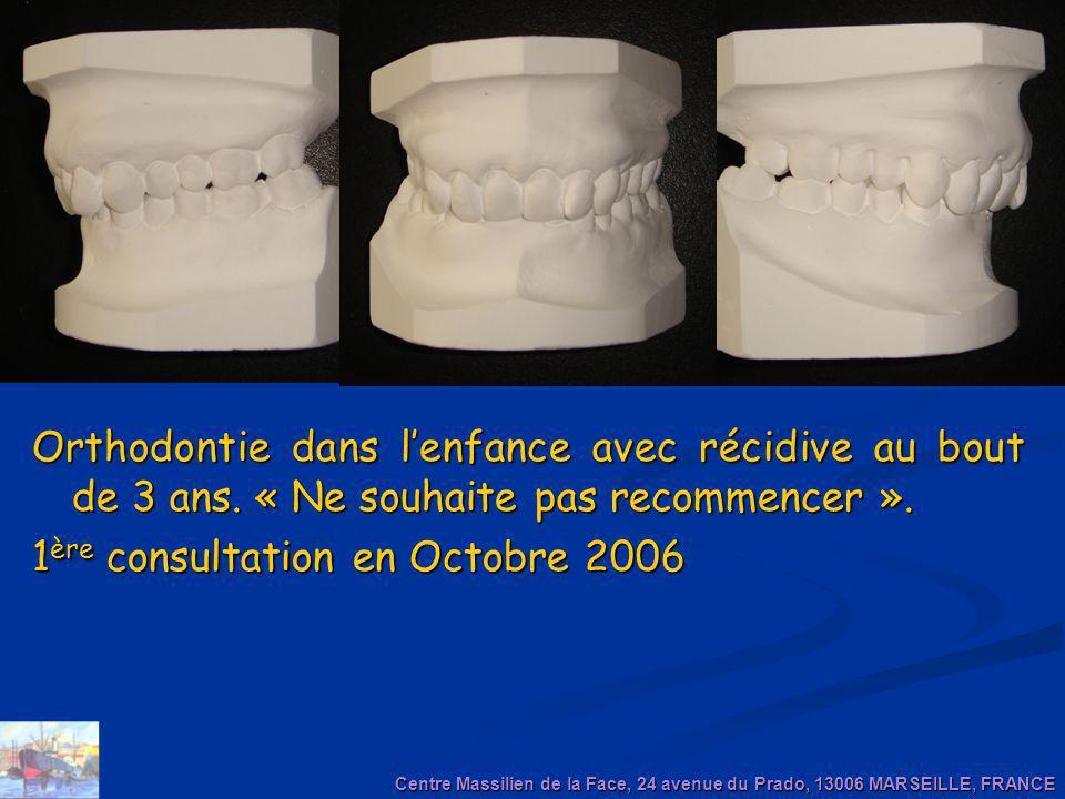 1ère consultation en Octobre 2006
