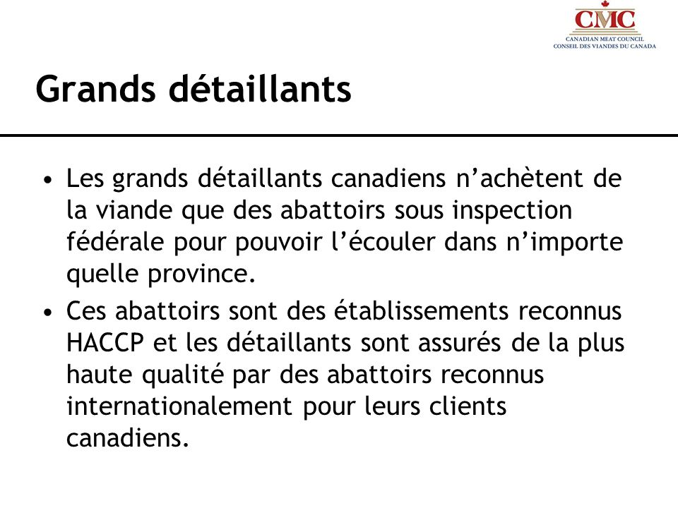 Grands détaillants