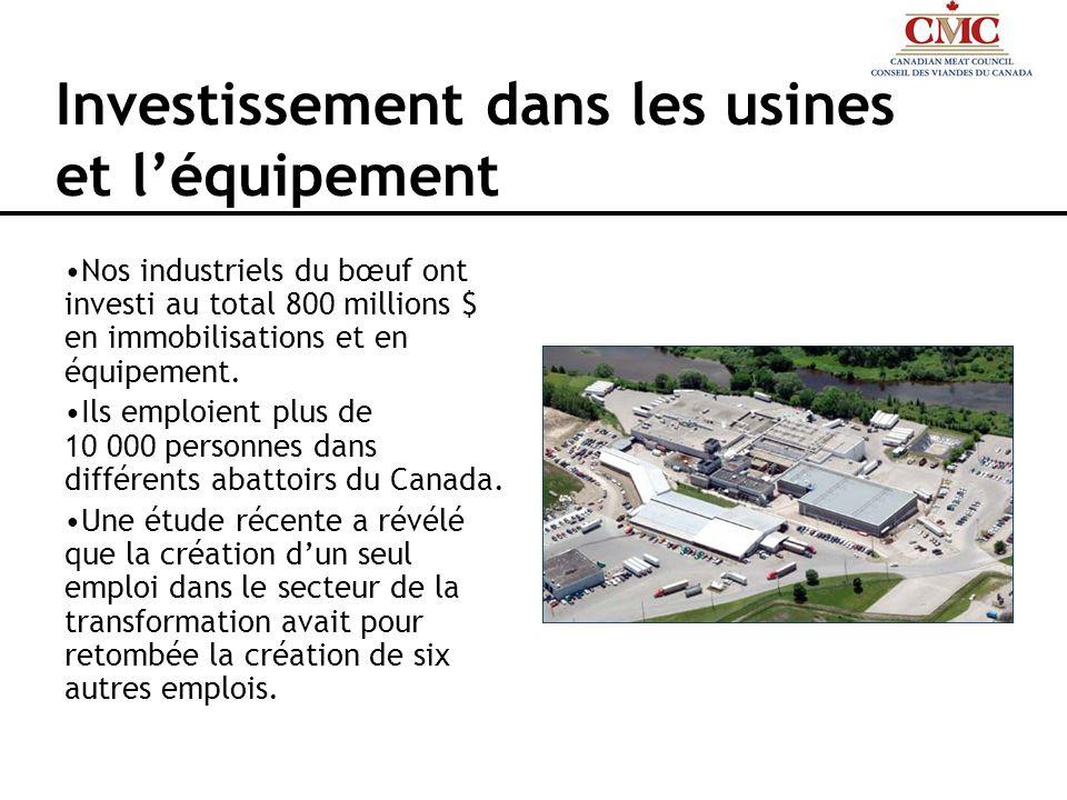 Investissement dans les usines et l'équipement