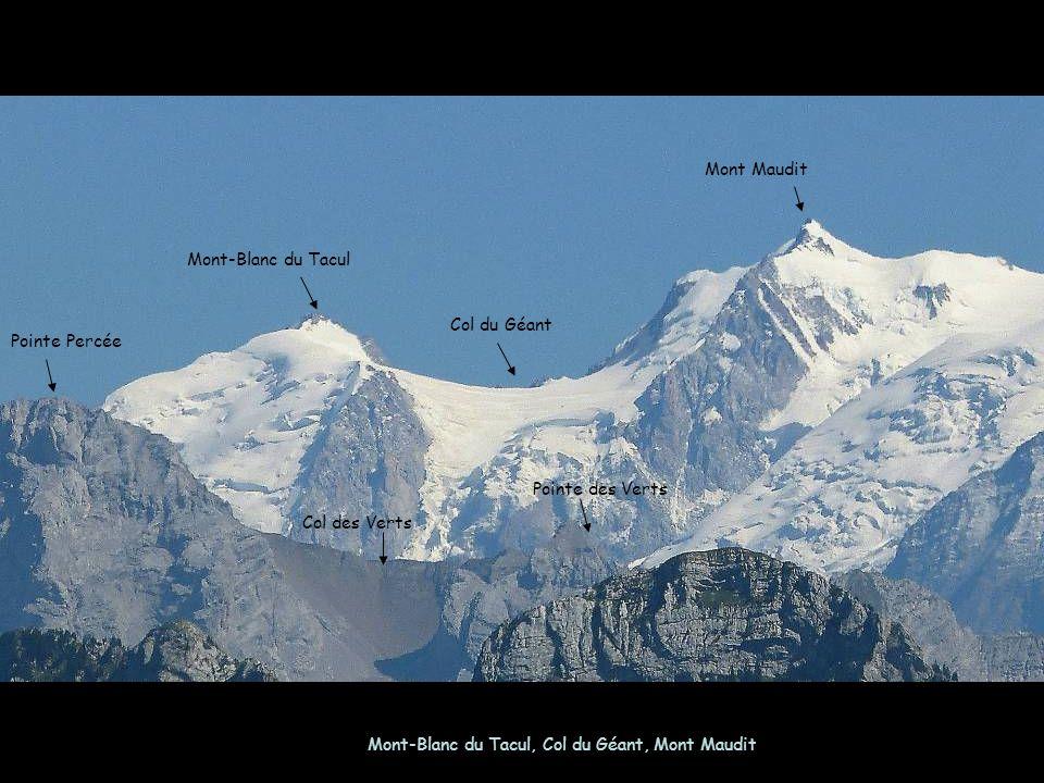 Mont-Blanc du Tacul, Col du Géant, Mont Maudit