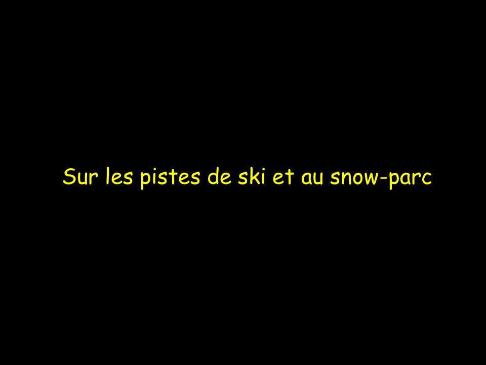 Sur les pistes de ski et au snow-parc