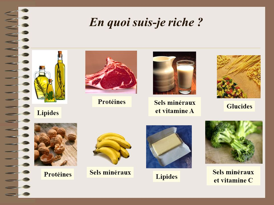 Sels minéraux et vitamine A Sels minéraux et vitamine C