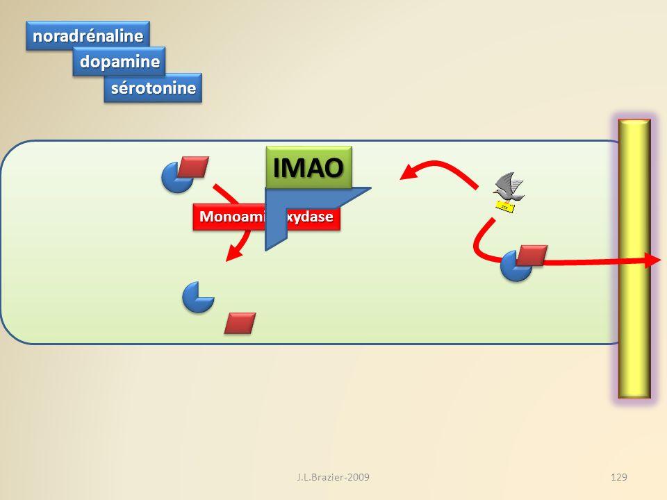 IMAO noradrénaline dopamine sérotonine Monoaminoxydase