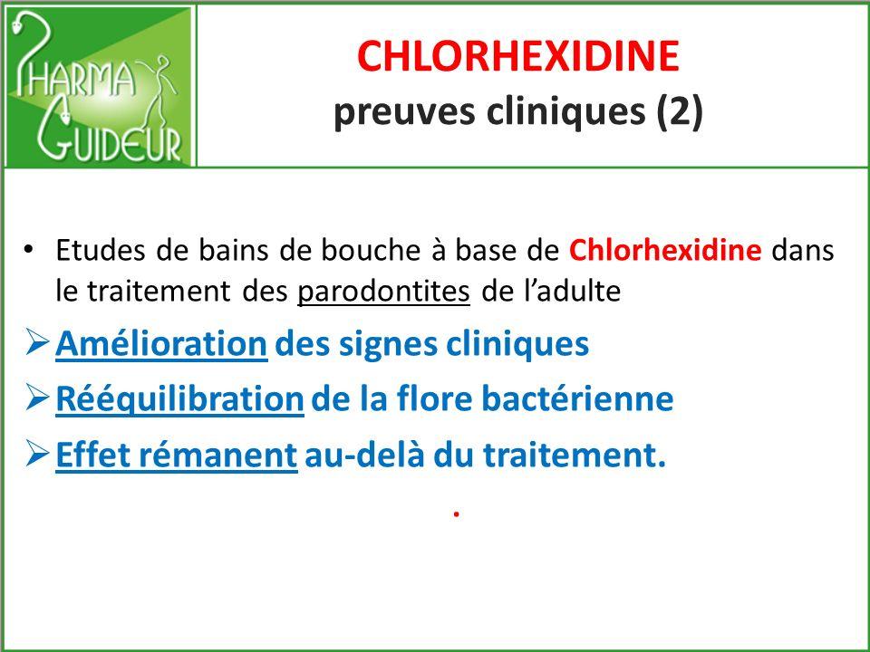 CHLORHEXIDINE preuves cliniques (2)